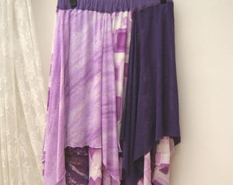 Festival maxi skirt, Boho upcycled skirt, gypsy skirt,  folk skirt ,reworked maxi skirt, bohemian skirt, upcycled clothing