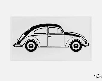 apply fusible flex Ladybug 2cv car