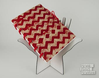 Synthcord Notebooks Red Zigzag