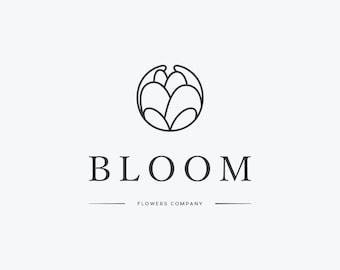 Premade peony logo design  / Flower Logo / floral logo / Modern florist logotype / Boutique Logo / botanical logo