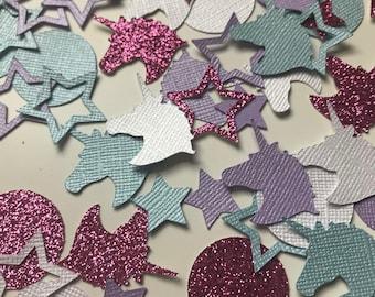 Unicorn Confetti, Table Scatter, Scrapbook Die Cuts