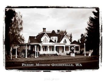 Presby Museum Goldendale Washington Art Print of Old House