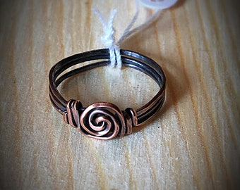 Wire Wrapped Spiral Ring