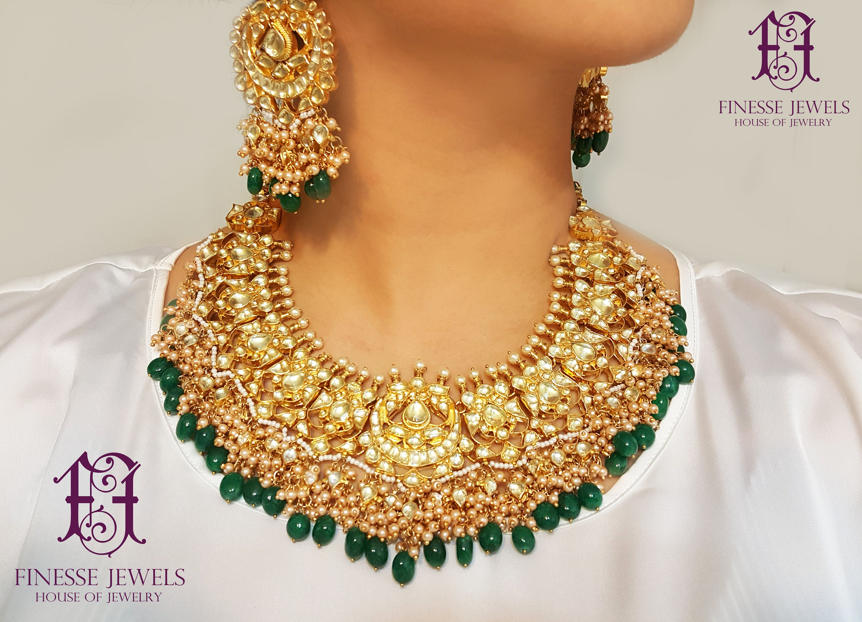 Sabyasachi Indian Necklace Set Kundan Earrings Bridal Indian