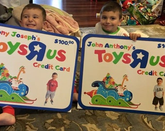 Personalized GIFT CARD poster boards - Great for children!!