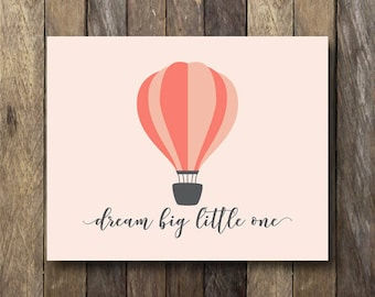 Hot Air Balloon Nursery Art - Hot Air Balloon Printable - Balloon Nursery Art