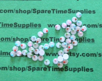 "Paste-on Round Moving Eyes - assorted colors - 1/8""  (4mm) - 96 pcs - Fibre Craft - #8804-3"