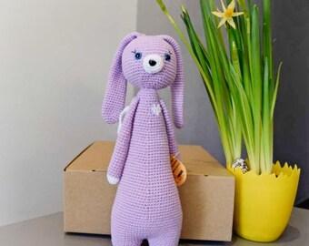 Handmade crochet angel-bunny