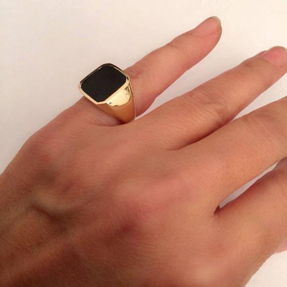 yx Ring Signet Ring Black yx Ring women ring men ring