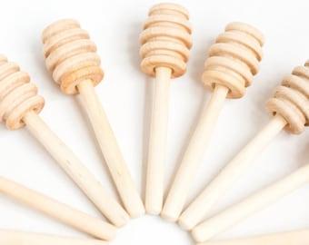 100 4 inch wood mini honey dippers | Box 31 |