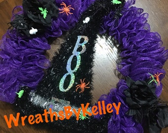 Simple Boo Halloween Wreath