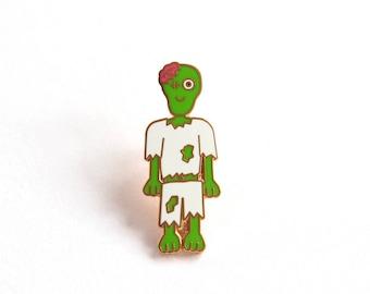 Zombie Pin Badge, Hard Enamel Pins, Friendly Zombie, Enamel Pin Badges, Pin Game, Rock Cakes, Brighton, uk