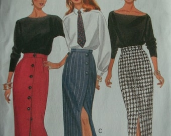 Misses Misses Petite Skirt Sizes 18-20-22 Butterick Glamour Collection Fast & Easy Pattern 6418 Rated Very Easy to Sew  UNCUT Pattern  1992