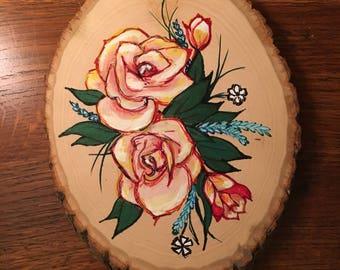 Rose on wood