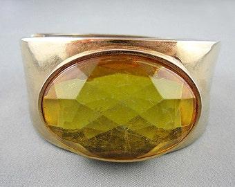 Large Topaz Crystal Cuff