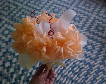 Tissue paper flower bouquet