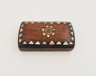 Snuff Box / 19th Century  Wooden Table Box.
