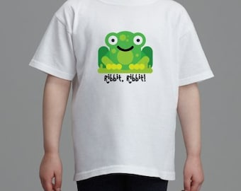Ribbit, Ribbit! Frog Tshirt for kids Small to XL