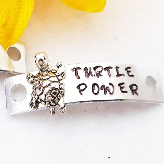 Turtle Power Shoelace Charms, Running Shoe Tag, Shoe Lace Tags, Turtle Charms, Runner Jewelry, Motivational Gifts, Runner Team Coach Gifts