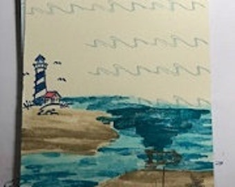 Themed Lighthouse and Ocean Journal-10 pages