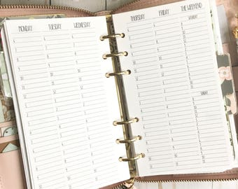 TIMED WEEKLY Personal Size Planner Inserts