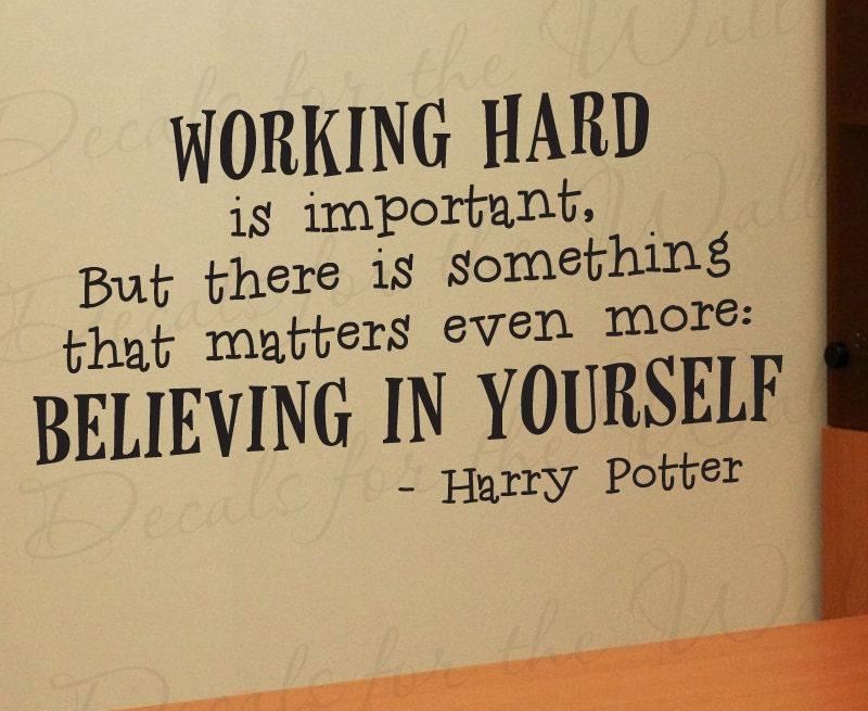 Harry Potter Working Hard Girl or Boy Room Kid School Studying