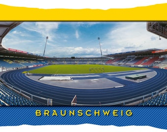 Brunswick Stadium postcard cushion (50 cm x 30 cm)