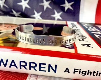 Nevertheless, She Persisted bracelet (10% of sales donated to Planned Parenthood)