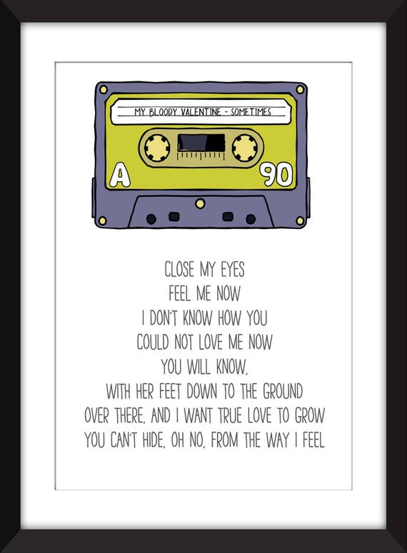 My Bloody Valentine Sometimes Lyrics Unframed Print