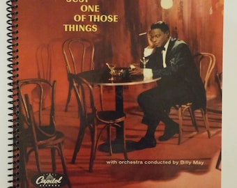 """Nat King Cole Spiral Notebook Hand Made from Upcycled Vinyl Record Album Cover """"Just One of Those Things"""""""