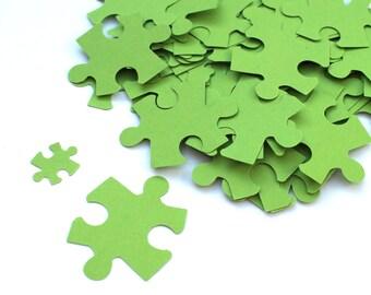 100 Puzzle Confetti / Customized Puzzle/ Various Colours / Rustic Wedding, Table Decor