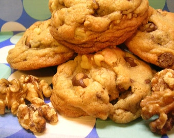 The BEST GIANT Walnut Chocolate Chip Cookies EVER