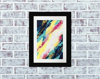 """Abstract Painting, Small Painting, Original Abstract, Abstract Original Art, Affordable Painting, Fine Art, """"Distance"""""""
