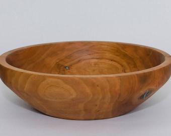 Wild Cherry Wood Bowls-Cherry Bowls-Serving Wood Bowls-Salad Bowls-Wood Turned Bowls-Handmade Bowls-Wooden Bowls-Wood Bowls For Sale-#7-037
