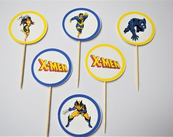 X-Men Cupcake toppers (Set of 12)