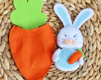Felt rabbit decor, Easter decorations, easter bunny, easter gifts, stuffed bunny, personalized easter, easter 2018, my first easter, easter