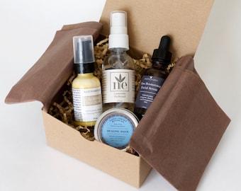 Skin Care Set - Facial Serum - Hydrosol - Facial Moisturizer - Healing Salve - Natural Skin Care - Face Care - Gift Set - Organic Skincare
