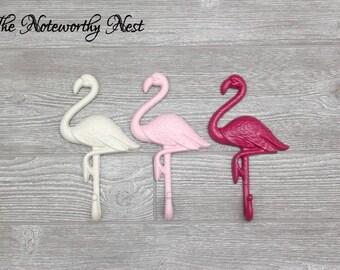 ANY COLOR  Pink Flamingo Hook / bathroom decor / nautical decor / beach decor / flamingo wall decor / Coastal Decor / Towel Hook / Pool Hook