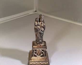 Nun's Antique St. Anne of Beaupre and Baby Mary Heavy Statue ~ Gorgeous