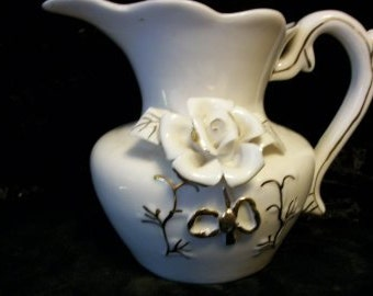 Victorian Pitcher With Roses