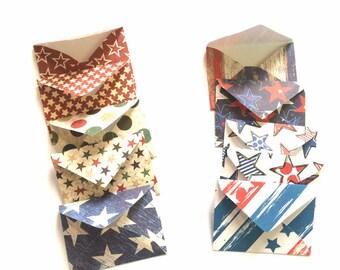 Patriotic Tiny Envelopes//Patriotic Envelopes//July 4th//Scrapbook Paper Envelopes//Tiny Envelopes//Handmade Envelopes//Stationery