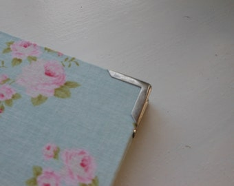 Cartonnage, bookbinding or box  corner-end, corners, ends, small, available in three colours: silver, antique silver, antique gold
