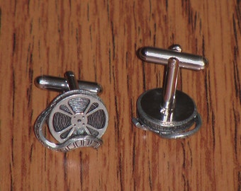Pewter Film Reel Cufflinks