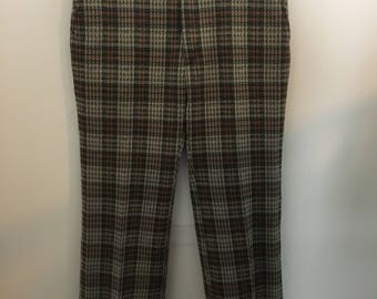 10% OFF!1960s Plaid Pants