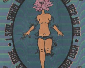 Lotus Haiku Print