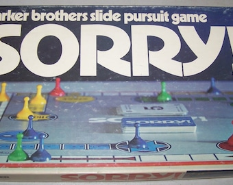 "Vintage 1972 Parker Brothers ""Sorry"" Game"