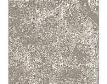 Arlington VA Cityscape / Virginia Map Art Print City Wall Art / 8x10 Poster / Choose your color