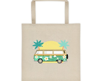 Retro vibe tote bag - Perfect for summer beach outings