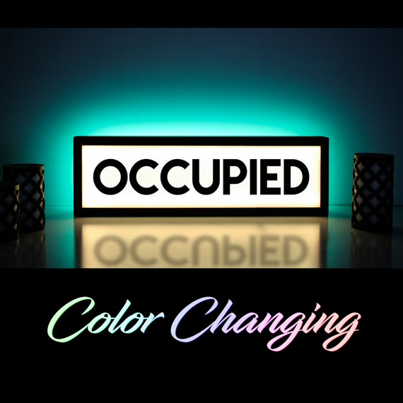 Occupied sign occupied bathroom sign vacant sign light up aloadofball Gallery