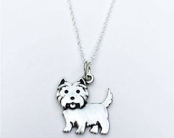 West Highland Terrier Charm Necklace